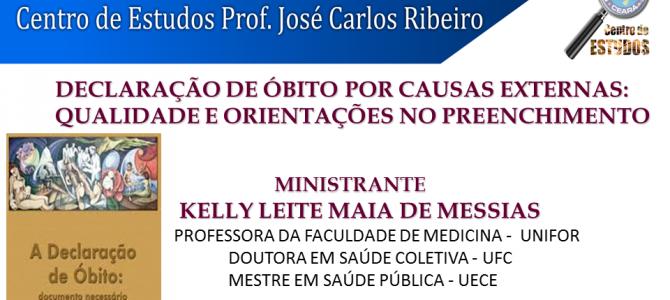 Centro de Estudos realiza palestra sobre Declaração de Óbito por Causas Externas