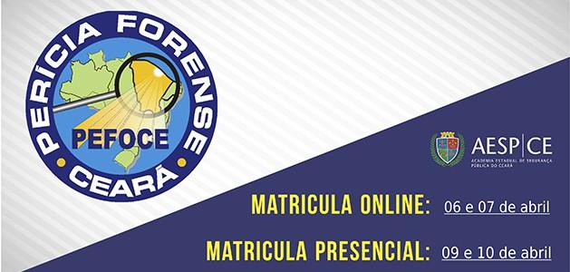 Matrículas da 2ª Turma do Curso de Formação Profissional da PEFOCE iniciam no dia 06 de abril